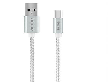 ACME CB2041S USB type-C cable, 1m, Silver