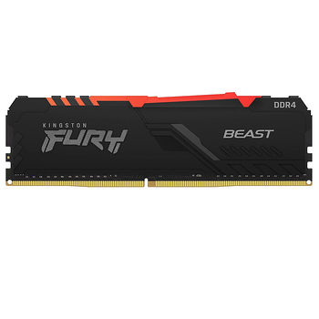 Memorie operativa 8GB DDR4 Kingston HyperX FURY Beast RGB KF432C16BBA/8 PC4-25600 3200MHz CL16, Retail (memorie/память)