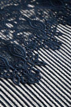 Майка ORSAY Темно синий в полоску 170004