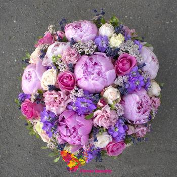 купить Композиция в шляпной коробке в розово-лавандовой цветовой гамме. в Кишинёве
