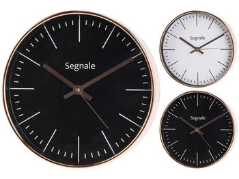 cumpără Ceas de perete rotund D25cm, carcasa culoarea cuprului în Chișinău