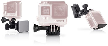 GoPro Helmet Front + Side Mount -to attach GoPro to the front or side of helmets, compatible with HERO6 Black, HERO5 Black, HERO5 Session, HERO Session, HERO4 Black, HERO4 Silver, HERO+ LCD, HERO+, HERO