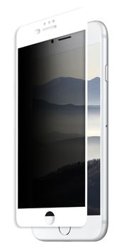 Защитное стекло Eiger iPhone 8+/7+/6+ 3D CF Privacy SP White