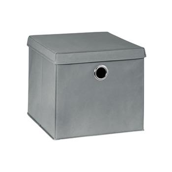 купить Бокс с крышкой для хранения 360x385x320 mm, серый в Кишинёве