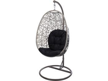Кресло подвесное плетеное 88X95X185cm, коричневое