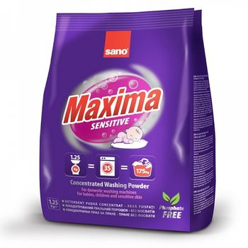 купить Sano Maxima Sensitive Стиральный порошок (1,25 кг) 295336 в Кишинёве