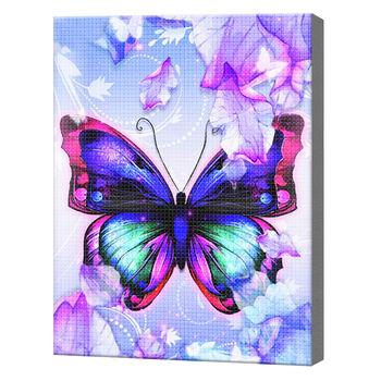Бабочка в лиловых оттенках, 40x50 см, aлмазная мозаика