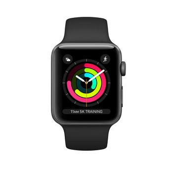 Apple Watch 3 42mm (MTF32), Space Gray / Black