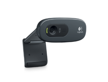 Logitech Webcam C270, Microphone, HD video calling (1280 x 720 pixels), Photos: Up to 3 megapixels (soft. enh.), RightLight, RightSound, USB 2.0, 960-001063, (camera web/веб-камера)