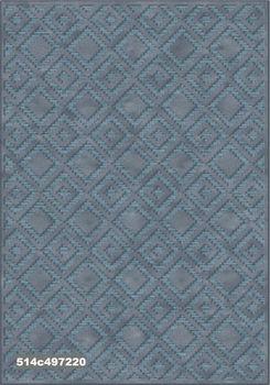 """Ковёр F-SHE 514с497220 """"Орнамент геометрия, синие квадраты"""""""