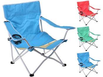 Стул для пикника раскладной 52X52X68cm, металл, 3 цвета