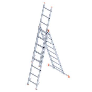 Лестница алюминиевая Sarayli Triple 3x8