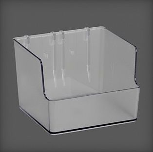 cumpără Container plastic 112x110x80, mm, transparent în Chișinău