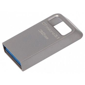 32GB USB3.1 Kingston DataTraveler Micro 3.1, Metal casing, Compact and lightweight, World's smallest USB Flash drive (Read 100 MByte/s, Write 15 MByte/s)