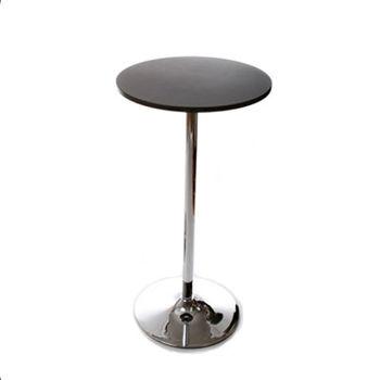 купить Круглый барный стол с поверхностью из МДФ и ножкой из хромированого металла 600х1100 мм, черный в Кишинёве