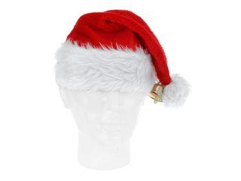 Шапка Деда Мороза с бумбоном и колокольчиком 40X30сm