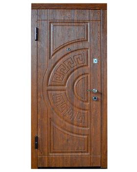 Дверь металлическая Diplomat DT1 860x2050x70 мм орех