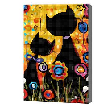 Котики, 20х30 см, алмазная мозаика