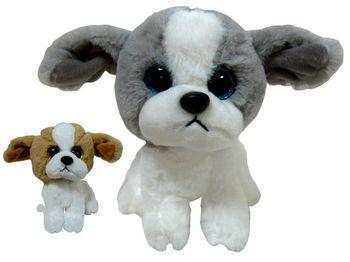 Игрушка мягкая Собака 19cm сидящая с большими глазами