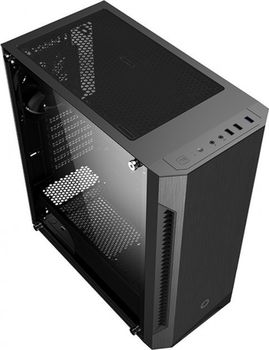 купить Case ATX GAMEMAX Fortress TG, w/o PSU, 3x120mm fans, PWM Controller, Tempered Glass, USB3.0, Black в Кишинёве