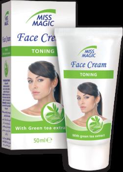 Крем для лица, SOLVEX Miss Magic, 50 мл., TONING - тонизирующий, с экстрактом зеленого чая