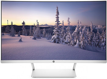"27.0"" HP VA LED 27 Curved Display Borderless Silver (5ms, 3000:1, 300cd, 1920x1080, HDMI, DisplayPort, 1800R, AMD Free-Sync, Audio Line-out, VESA)"