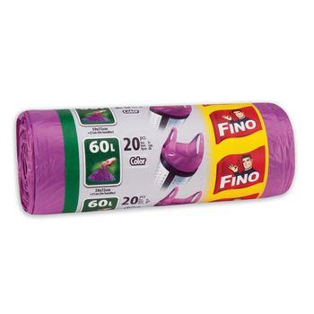 купить Fino Пакеты для мусора с ручками 60 л, 20 шт. в Кишинёве