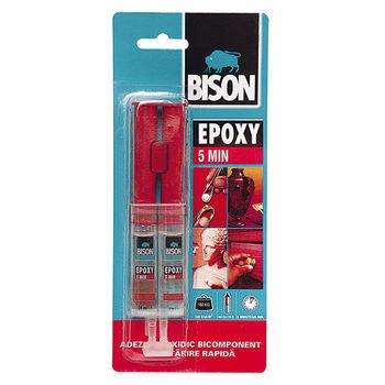 купить Bison Epoxy, эпоксидный клей 5 min. adeziv rapid 2x12 ml в Кишинёве