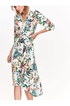 Платье TOP SECRET Белый с цветами ssu2447