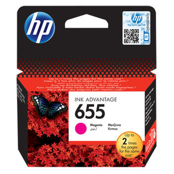 HP №.655 Magenta Ink Cartridge, for Deskjet Ink Advantage 3525, 4615, 4625, 5525, 6525 AiO, 600 pages