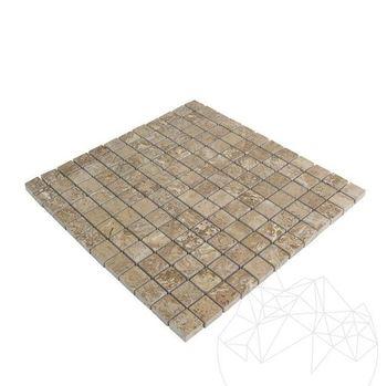 купить Мозаика травертиновая латте полированная 2,3 х 2,3 см в Кишинёве