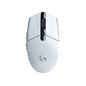 Logitech Gaming Mouse G305 Lightspeed Wireless White, High-speed, Hero Gaming Sensor,  6 Programmable buttons, 200-12000 dpi, 1ms report rate, White, 910-005291