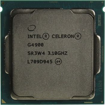 Intel® Celeron® G4900, S1151, 3.1GHz (2C/2T), 2MB Cache, Intel® UHD Graphics 610, 14nm 54W, Box