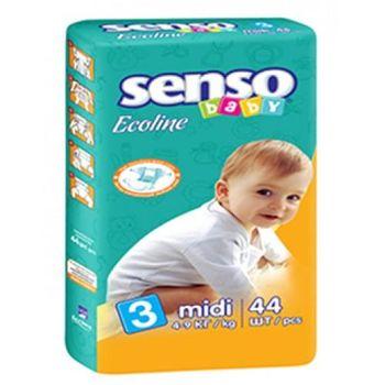 купить Senso Baby Ecoline подгузники Midi 3, 4-9кг. 44шт в Кишинёве