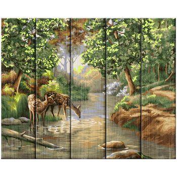 Картина по номерам GREENWICH Утро в лесу 40x50см дерево  Арт.: RL95710
