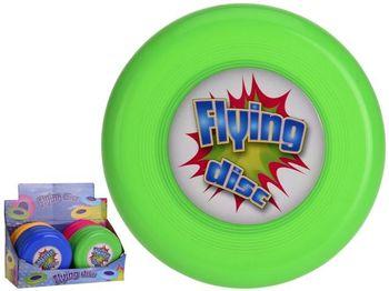 Летающая тарелка с рисунком D15cm, разных цветов