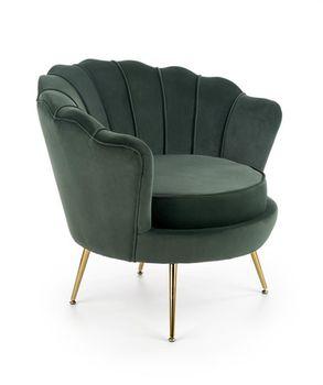 купить AMORINITO  fotel wypoczynkowy ciemny zielony / złoty в Кишинёве
