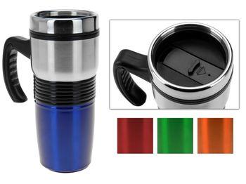 Чашка-термос 0.4l, 19cm, с ручкой, нержавеющая сталь