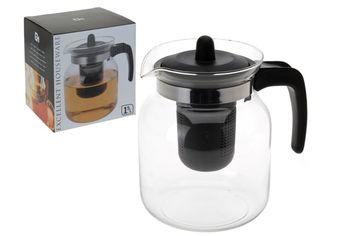 Чайник заварочный EH 1.5l стеклянный, черный
