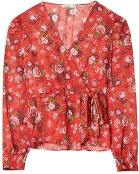 Блуза Stradivarius Красный с принтом 6056/194/100
