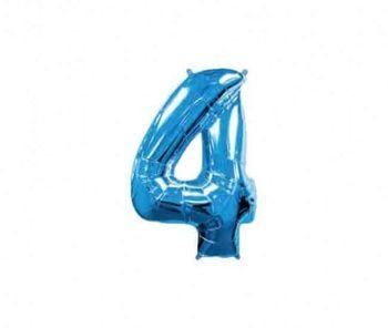 Цифра 4 Синий 40 / 102 см