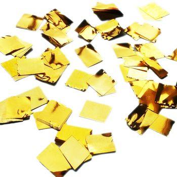 купить Шарик с Конфетти Квадратики - Золото в Кишинёве