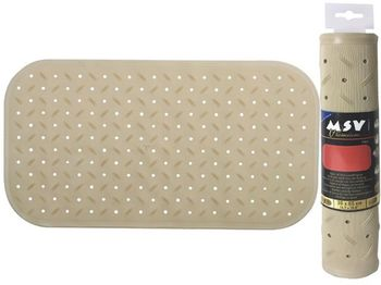 Коврик для ванны 36X65cm Class Premium бежевый, резиновый