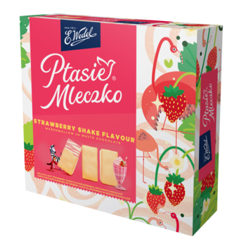 купить Шоколад Wedel PM Strawberry Shake, 360г в Кишинёве