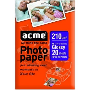 ACME Photo paper 210g/m2 Glossy (20 sheets), A4