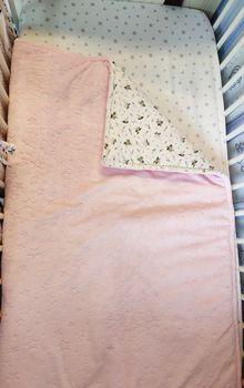 Одеялко 100*80 см Pink Flowers with Plush