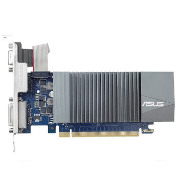 Видеокарта ASUS GT710-SL-2GD5, GeForce GT710 2GB GDDR5, 64-bit, GPU/Mem clock 954/5012MHz, PCI-Express 2.0, Dual VGA, D-Sub/DVI-D/HDMI 2.0b (placa video/видеокарта)