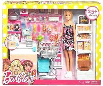 """Набор с куклой Барби """"В супермаркете"""", код FRP01"""