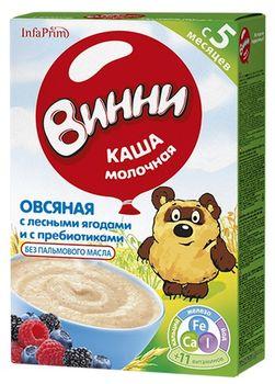 cumpără Винни terci de ovăz cu lapte și fructe de pădure, 5+ luni, 200 g în Chișinău