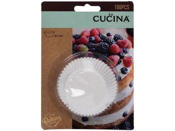 Формы для кексов бумажные Cucina 100шт, D6сm